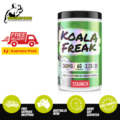 STAUNCH KOALA FREAK Pre Workout Energy Focus Intensity Preworkout 30 Serves