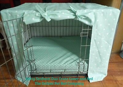 "Medium 30"" Dog Crate Cover Quality Cotton @TheDoZeeePetBedCo Dotty Spots"