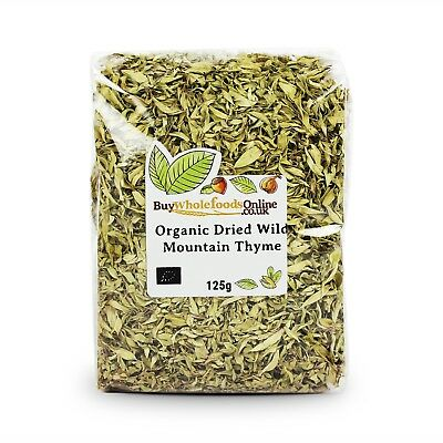 Organic Dried Wild Mountain Thyme 125g | Buy Whole Foods Online | Free UK P&P