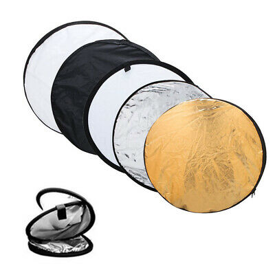 5-in-1 Camera Round Light Collapsible Multi Photo Disc Photography Reflector
