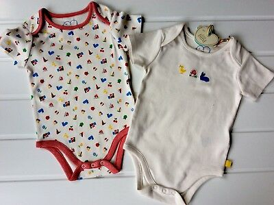 Little Bird Jools NEW 12-18 Months pair rainbow body tops bunny toadstool chick