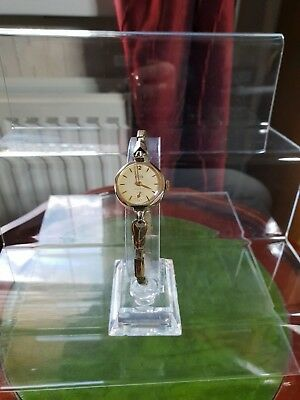 ladies vintage smiths empire, rolled gold wind-up dress watch 7 jewels.#bv.
