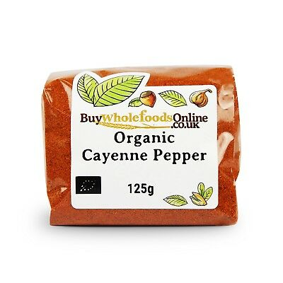 Organic Cayenne Pepper 125g | Buy Whole Foods Online | Free UK P&P