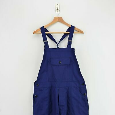 Vintage French Deadstock Workwear Dungarees Indigo Blue Overalls Trousers S