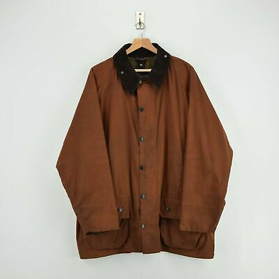 Vintage Barbour A831 Classic Beaufort Brown Wax Jacket Made In England XXL