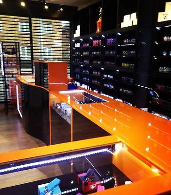 Shop Display Cabinets ,Shop Counters,Shelving - Black Gloss And Orange