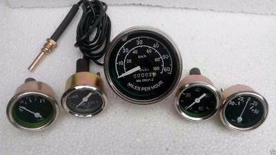 Speedometer Temp Oil Fuel Ampere Gauge Kit A 4 Willys MB Jeep Ford GPW CJ