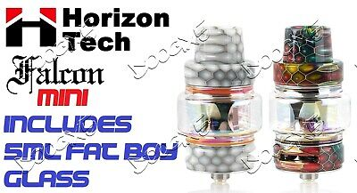 New Horizon Tech Falcon Mini With 5Ml Fat Boy Glass Included White Or Rainbow