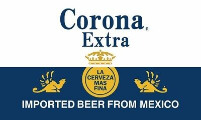 CORONA EXTRA BEER FLAG 3x5FT 90x150CM TWO GROMMETS WHITE