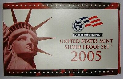 2005 S United States Mint Silver Proof Set
