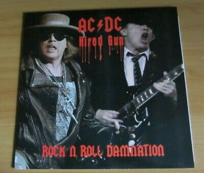 Ac Dc   Hired Gun Lp Rock N Roll Damnation Limited Copy Coloured Vinyl Mint