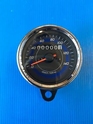 Speedometer Odometer Analogical Cafe' Racer Chrome New
