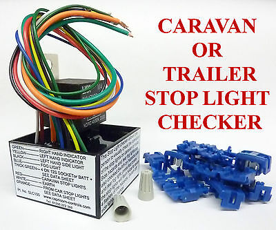 Universal Trailer Tester 7 13 Pin Caravan Circuit Wiring Checker STAYS CONNECTED