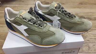 a25e727b1ad6b DIADORA HERITAGE EQUIPE Stone Wash 12 sneaker in beige and green for ...
