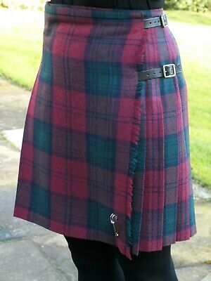 Ladies Authentic Shetland Wool Kilt Classic Lindsay Tartan TG0800