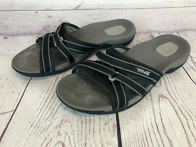 e5e39c71c5ec Teva Tirra Slide Sandals Womens Size 8   39 Black And Gray Slip On Sandals  22h