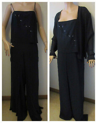 590e80f541f Joseph Ribkoff Couture 2pc.Jumpsuit with Sheer Open-Front Jacket Women s 12