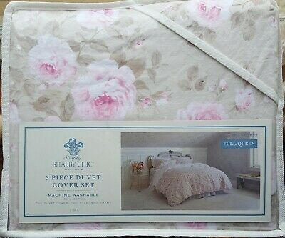 Simply Shabby Chic Floral Twin Duvet Cover Set 2 pc pink new #0384