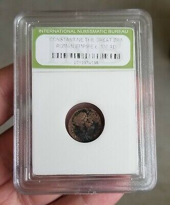 Authentic Ancient Roman Coin Constantine the Great Era Numismatic Bureau Slabbed