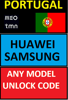 Unlocking Code Portugal Tmn / Meo Any Samsung & S9 S10 Note 9 Etc