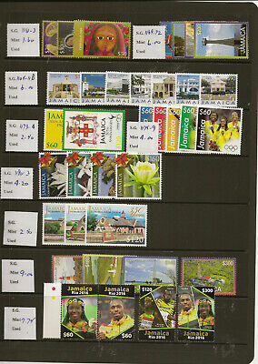 Jamaica 2009-18 Mnh New Issues Priced To Sell At £67