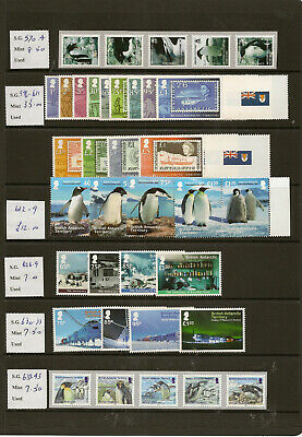 British Antarctic Territory 2010-18 Mnh New Issues Price To Sell At £375