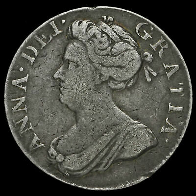 1706 Queen Anne Early Milled Silver Maundy Fourpence