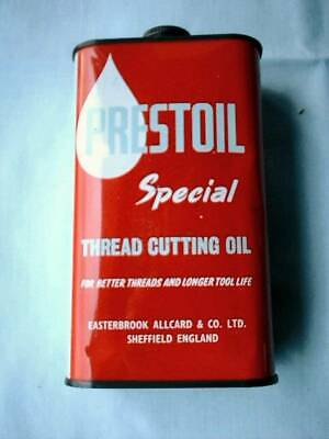 Vintage Prestoil Special Thread Cutting Oil Tin  One Imperial Pint