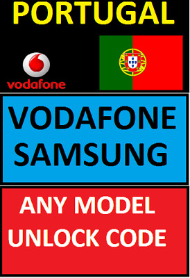 Unlocking Code Portugal Vodafone Any Samsung S10 S9 Note 9 J3 J5 S8 J1 A5 A8