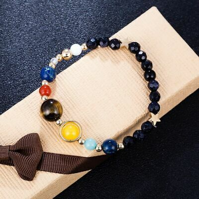 Universe Planets Beads Bangles & Bracelets Fashion Jewelry Solar System Natural