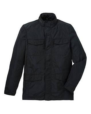 "BLACK LABEL 4 pocket nylon JACKET black 44-46"" chest"