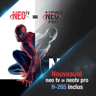 NEO TV PRO 2 - MAG Android  M3U 12 mois