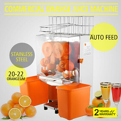 Commercial Orange Juicer Squeezer Fruit Extractor Auto Feed 20-22 Oranges