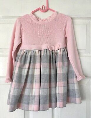 Gorgeous Mayoral Pink Knitted Long Sleeve Dress, 24m/92cm. Worn Once.