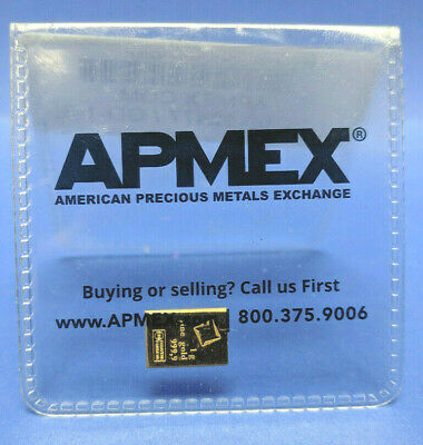 Apmex 1 Gram .999 Fine Gold Bar