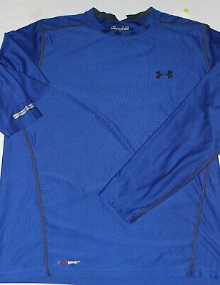 Men's new Under Armour Golf Tee T shirt Royal Blue Size Large fitted 21 x 26