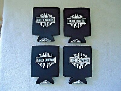 "Lot Of 4 "" NWOT "" Harley Davidson Motor Cycles Cooler Cups "" GREAT COLLECTIBLES"
