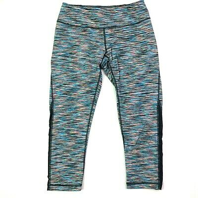 bee20b2f0d7c99 Zella nordstrom spacedye striped colorful athletic yoga crops capris size  small