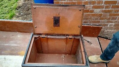 vintage antique safe - castiron cast iron strongbox, from the late 18c-early19c