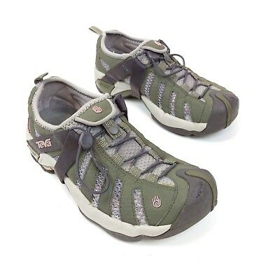 28fd88bededb TEVA Women s 7.5 Green Sunkosi Amphibious Waterproof Water Hiking Shoes  Sandals