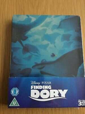Disney Pixar Finding Dory 3D Steelbook Bluray Uk Release Brand New Sealed