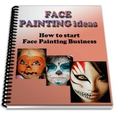 Face Painting Ideas book. GIFT