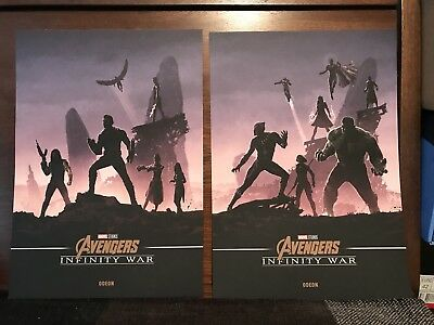 Marvel Avengers Infinity War A4 Posters Odeon Exclusive Hulk Captain America