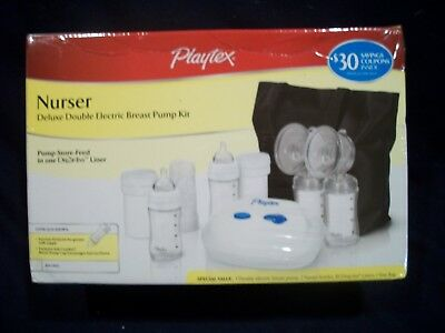Playtex Nurser Deluxe Double Electric Pump Kit Pump-Store-Feed BRAND NEW SEALED!