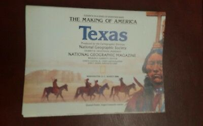 National Geographic Mag -supplement map - texas - free post