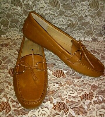 78970a3bf35 Lauren By Ralph Lauren BRILEY Loafer Driving Moccasin Leather Tan Size 8 B