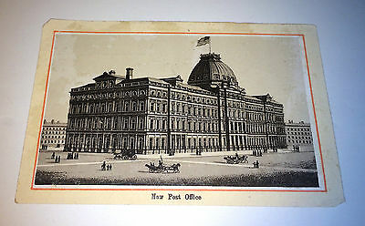 Antique NY Post Officer, Old Parlor Folding Bed Victorian Advertising Trade Card