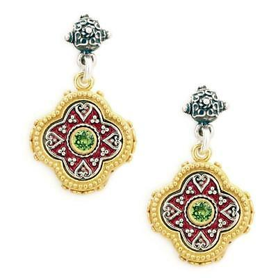 S224 ~ Sterling Silver & Swarovski Medieval Drop Earrings