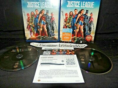 Justice League (Blu-ray/DVD + Digital Copy 2018) with SLipcover NEAR MINT!