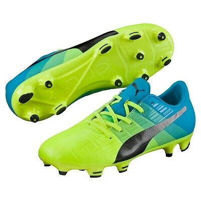 e5fb7ed3d899 PUMA EVOPOWER 4 Youth Soccer Cleats Size 1 Yellow Purple Turquoise ...